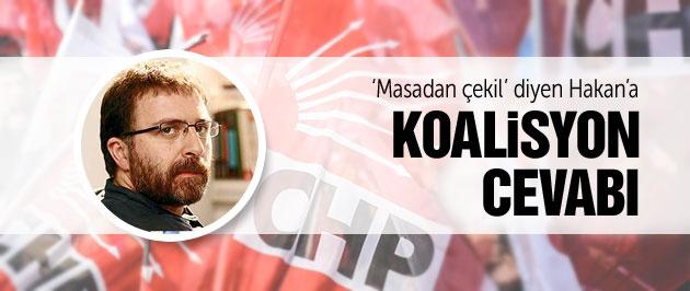 CHP'den Ahmet Hakan'a 'koalisyon masası' cevabı