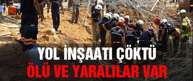 İzmir'de yol çöktü Ölü ve yaralılar var
