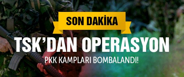 TSK'dan PKK operasyon haberleri Hedefler vuruldu