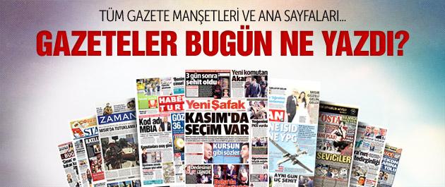 Gazete manşetleri 5 Ağustos 2015