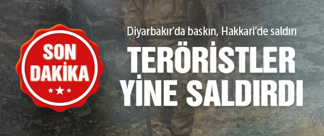 Hakkari ve Diyarbakır'da flaş PKK saldırısı haberleri