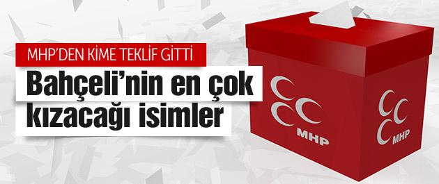 MHP bakanlık teklif edilen isimler bomba!