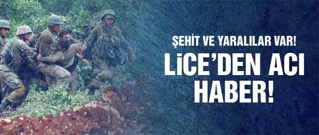 Lice'den kara haber: 1 şehit, 2 yaralı!