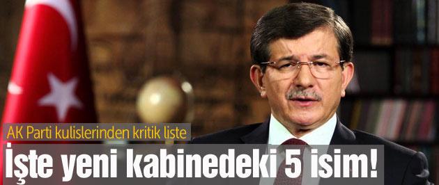 'Seçim hükümetinde yer alacak AK Partililer' kulisi!