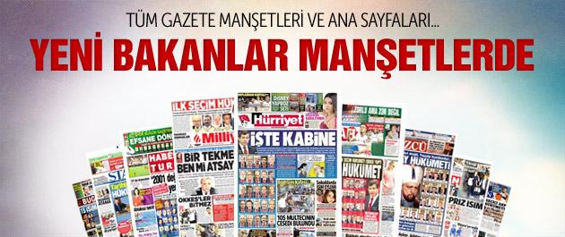 Gazete manşetleri 29 Ağustos 2015