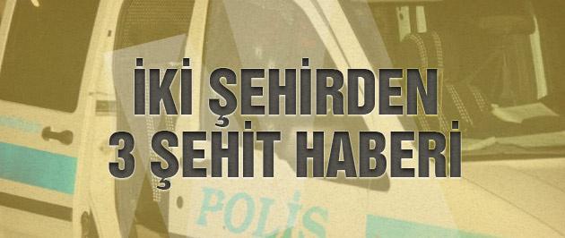 Tunceli ve Urfa'dan acı haber 3 şehit