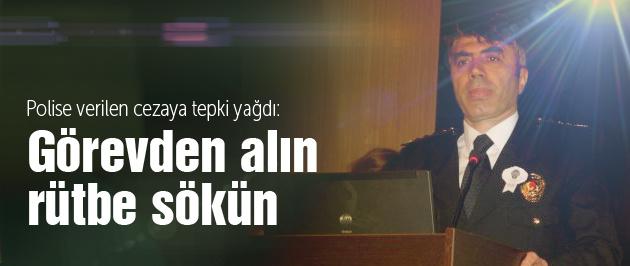 Siirt'te polise verilen cezaya tepki!