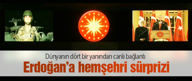 Erdoğan'a canlı yayında Rize sürprizi