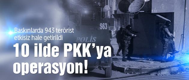 Son operasyonlarda 943 PKK'lı öldürüldü!