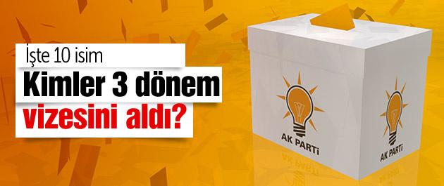 İşte AK Parti'de 3 dönem vizesi çıkan 10 isim!