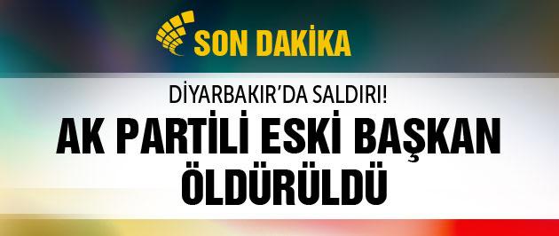 AK Partili eski başkan Diyarbakır'da öldürüldü