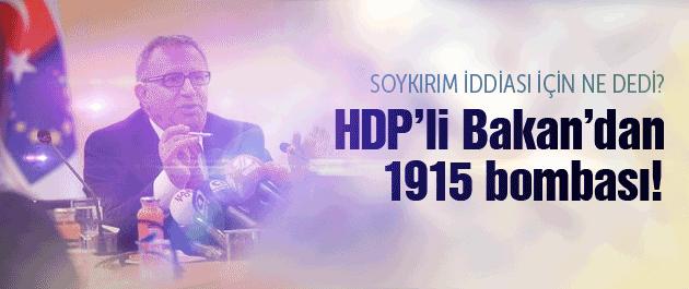HDP'li AB Bakanı'ndan 1915 bombası!