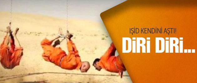 IŞİD askerleri ayağından asıp yaktı! Vahşet!