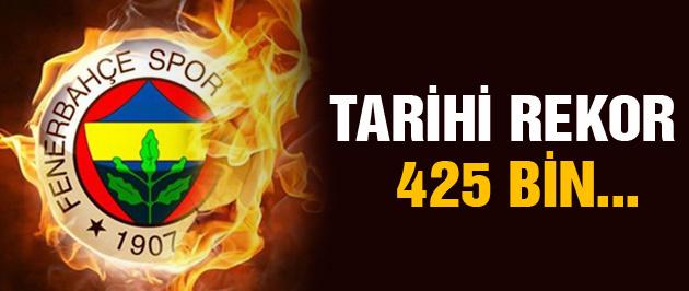 Fenerbahçe'den tarihi rekor! 425 bin...
