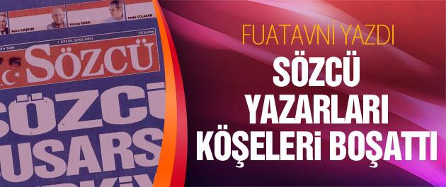 Fuatavni yazdı Sözcü Gazetesi manşeti olay