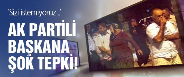 Şehit evinde Ak Partili başkana şok tepki!