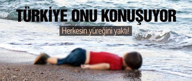 Kıyıya vuran çocuk herkesin yüreğini yaktı