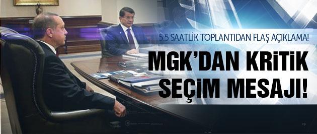 MGK'dan 1 Kasım seçimleri için kritik mesaj!