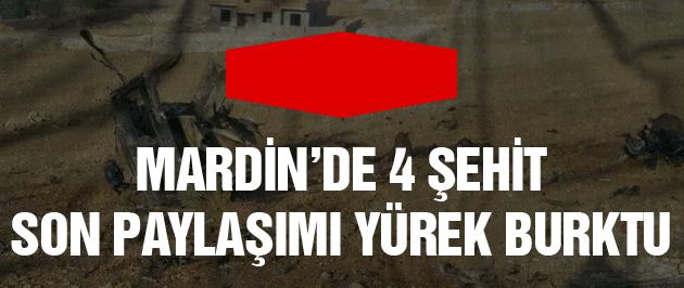 Mardin'de PKK saldırısı 4 polis şehit