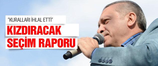 Seçim raporunda Erdoğan'a sert eleştiri