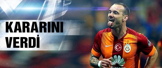 Ve Sneijder son kararını verdi!