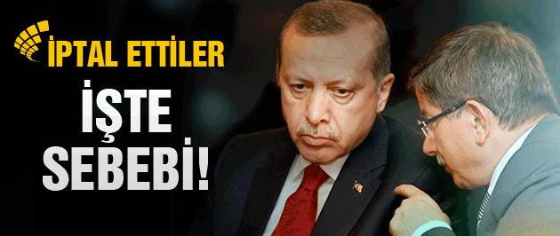 Erdoğan ve Davutoğlu programını iptal etti! İşte nedeni
