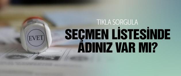 YSK seçmen sorgulama-seçmen listeleri 2015