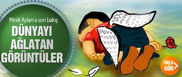 Kıyıya vuran Suriyeli çocuk Aylan Kurdi'ye son bakış
