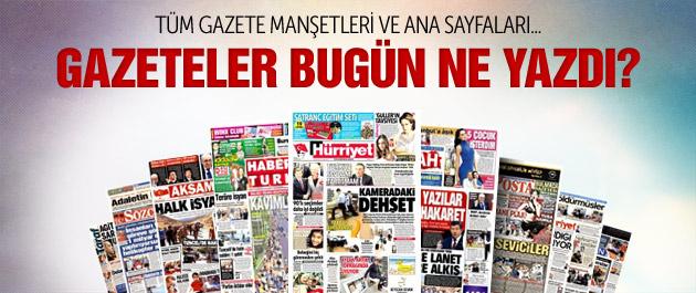 Gazete manşetleri bugün 5 Eylül 2015