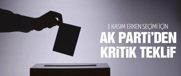 AK Parti'den 1 Kasım seçimleri için 'kamera' teklifi