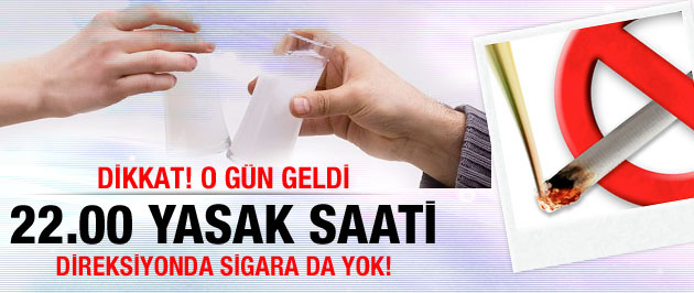 Akşam saat 22.00'da alkol yasak dikkat!