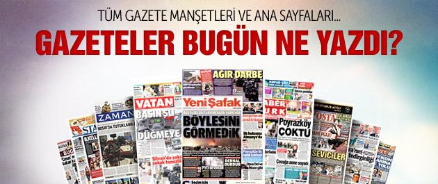 Gazete manşetleri 4 Ekim 2015