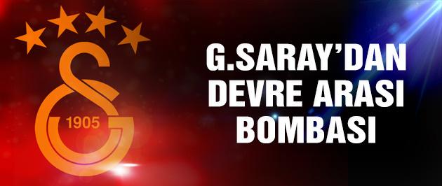 G.Saray'ın devre arası bombası