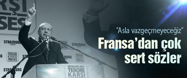 Erdoğan'dan Fransa'da sert sözler!