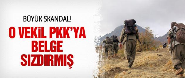 Büyük skandal! O vekil PKK'ya belge sızdırmış