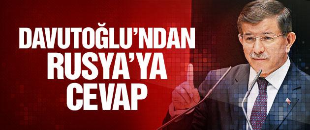Davutoğlu'ndan flaş Rusya açıklaması!