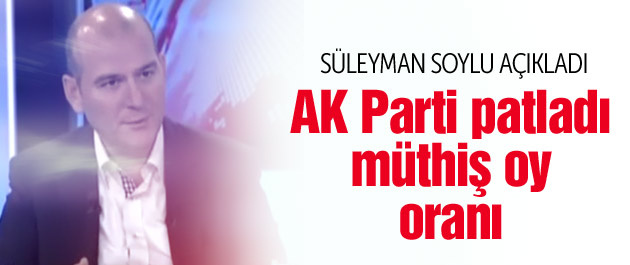 Seçim anketleri AK Parti oy oranı Soylu açıkladı