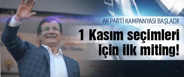 Davutoğlu, Samsun'da 1 Kasım için start verdi!