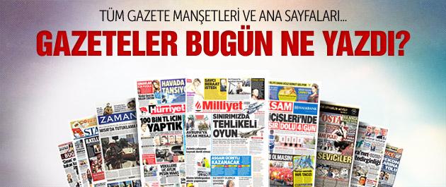 Gazete manşetleri 6 Ekim 2015