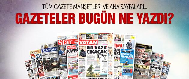 Gazete manşetleri 7 Ekim 2015