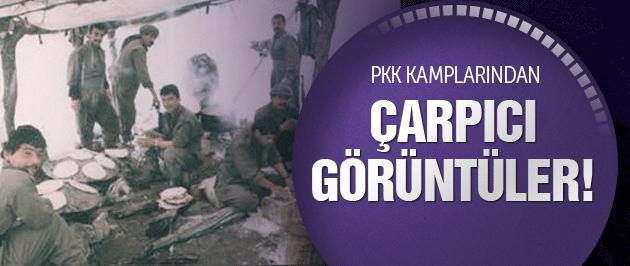 PKK'nın kampları böyle görüntülendi