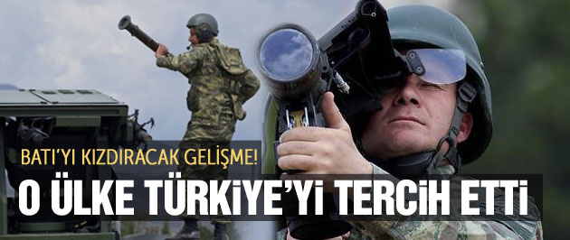 O ülke Türkiye'nin silahlarını kullanacak