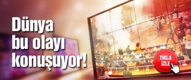 Kosova Meclisi'nde görülmemiş olay!