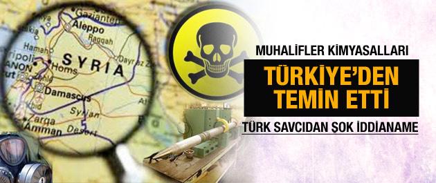 Türk savcı kimyasallar Türkiye'den dedi