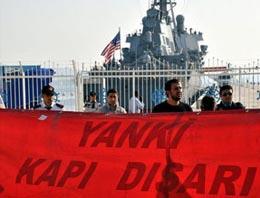 ABD savaş gemisini protesto edemediler