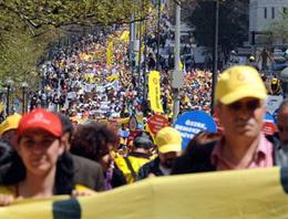 Eğitim-Sen'liler Ankara'da yürüdü