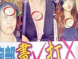 Kadınları zincire vurup işaretlediler