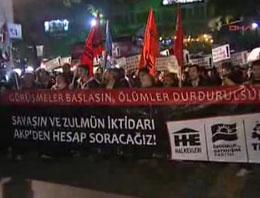 Başkentte açlık grevlerine destek
