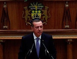Erdoğan Gabon'da Meclis'e seslendi