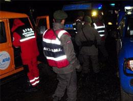 Jandarma aracı köprüden uçtu
